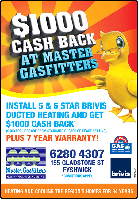 June home heating promotion for Canberra region. Install 5 or 6 star ...